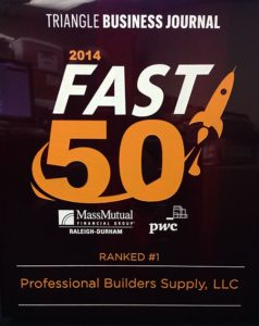 Triangle Business Journal Fast 50 2014