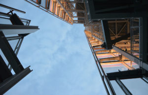 Skyward Look at Glass Building